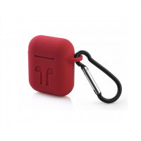 Чехол AirPods Silicon Case Red
